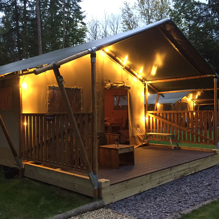 Safari Tent Outside & Glamping Norfolk - Luxury Safari Tents